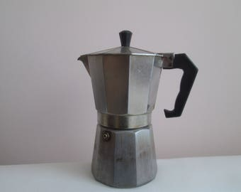 Vintage coffee maker, Italian coffee maker, Moka Espresso Coffee Maker, Espresso coffee, Primitive coffee machine,Kitchen decor,Rustic decor