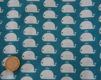 coupon fabric patchwork 25 X 25 cm / whale