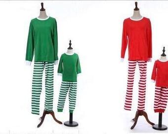 Free Shipping* Personalized Christmas Pajamas, Monogram Christmas Pajamas,  Family Christmas PJs