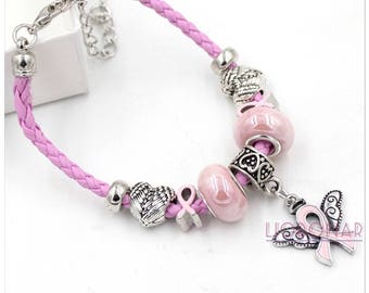 Breast cancer awareness bracelet