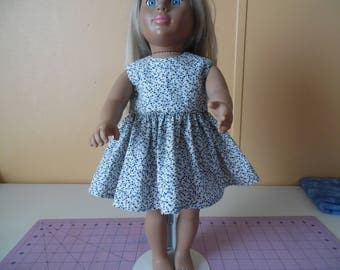 "Two tone blue mini stars dress for 18"" dolls"