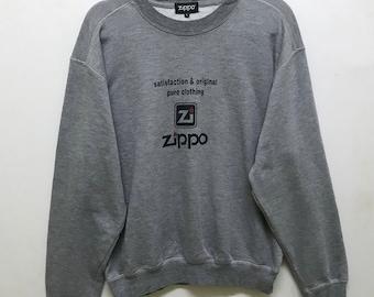 Rare!!! Zippo Sweater Pullover Spellout Logo