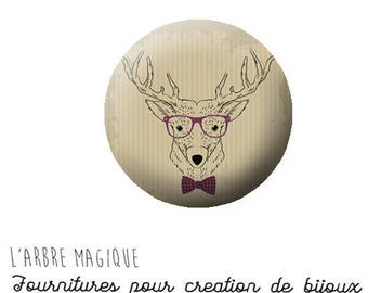 2 cabochons craft animal deer 20/18/16/14/12 mm glass to choose from-ref 768