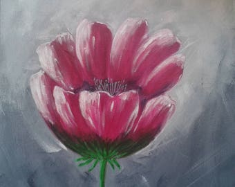 Art deco floral painting acrylic painting