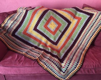 Multicoloured square throw