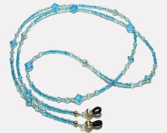 Sea to Sky Crystal Pearl Beaded Eyeglass Chain