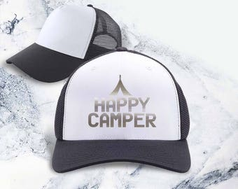 Happy camper, camping, camping party, camping gift, cottage, cottage gift, camping gifts, camping décor, camping supplies, gift for family