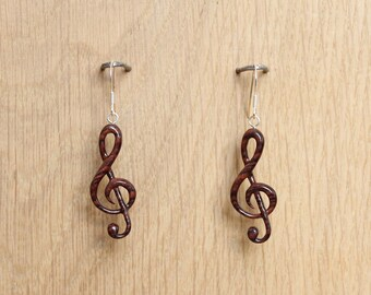 "Earrings ""ready to reach"" - wooden jewelry"