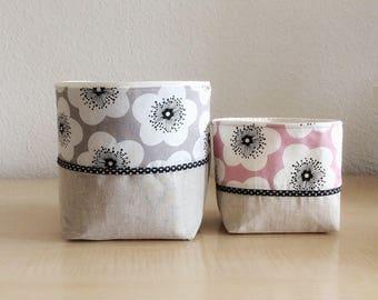 Set of storage baskets - set of empty pockets, geometric print basket