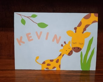 Mommy and baby giraffe (can be personalized)