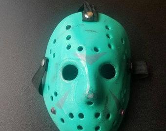 Retro Jason Fiberglass Hockey Mask