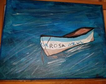 Acrylic Boat Painting