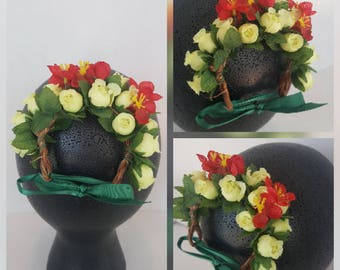 Flower Crown for Bun (Adult)