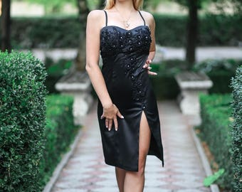 Evening bustier dress