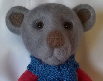 Large Needle Felt Teddy Bear