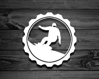 Snowboard Decal Etsy - Custom die cut vinyl stickers snowboard