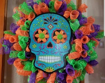 Sugar skull wreath