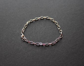 Silver Bangle Bracelet, lobster clasp