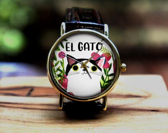 Cute little cat watch for girls and womanbirthday gift,thanks giving gift,  Christmas gift, holiday gift