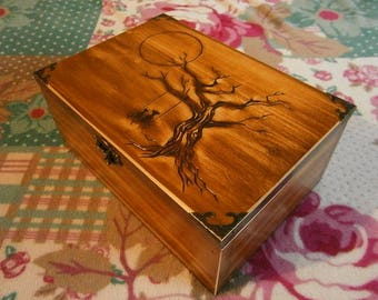 Keepsake box hand carved