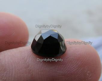 Black Spinel 5MM Rose Cut Gemstone - 5MM Faceted Cabochan Black Spinel Stone - 5MM Spinel Rose Cut Gemstone