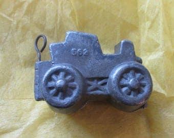 Vintage Antique Pewter Automobile Ice Cream Mold, Schall & Co., #562