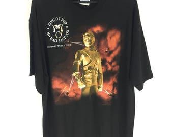 Vintage 1996 King Of Pop Michael Jackson tshirt