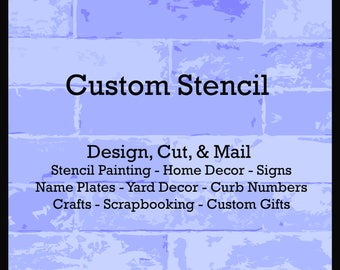Stencil Maker - Custom Stencil Design - Stencils Word Name Text Letter Lettering Quote Letters for Sign Art Craft Designer Creator Reusable