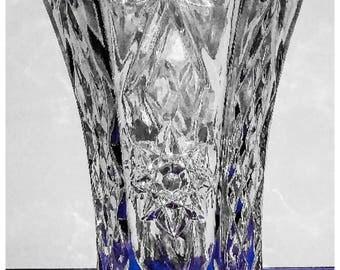Vintage 1960 Anchor Hocking Davids Vase