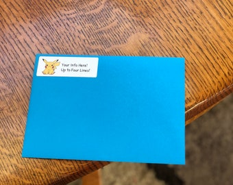 Pokemon Birthday Party Invite Envelopes, Address Labels, and Seals!