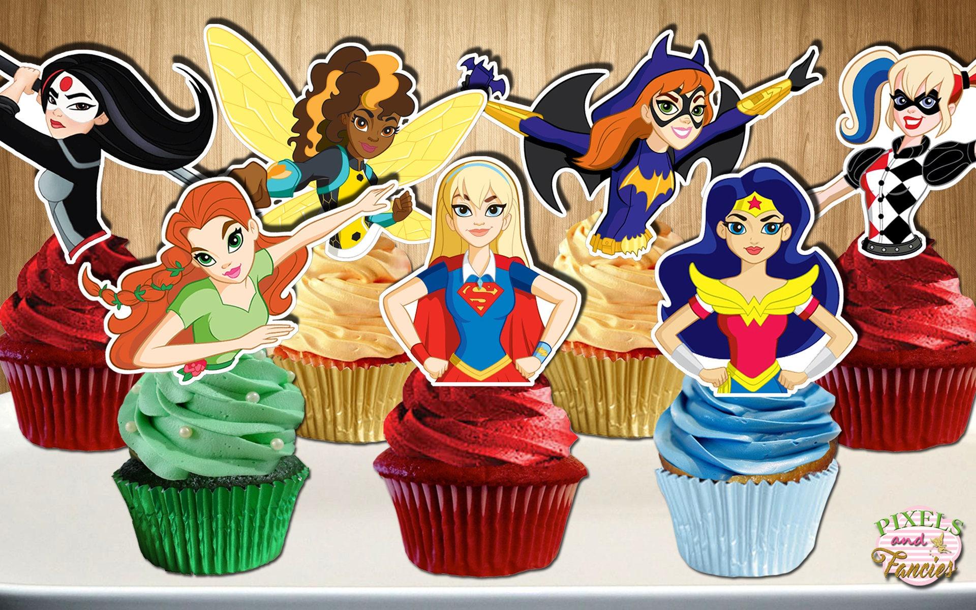DC Superhero Girls Cupcake Toppers DC Super Hero Girls
