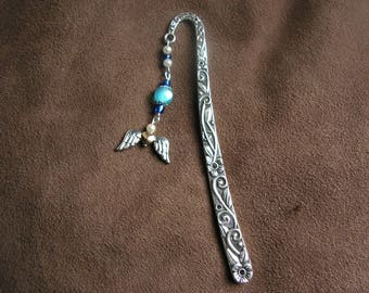 "Bookmark ""Angel Wings"" and blue beads, jewelry"