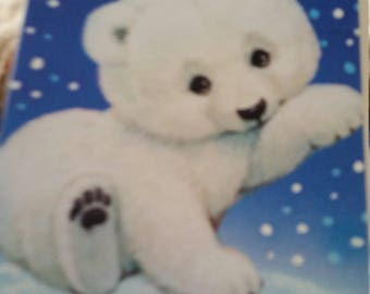Vintage Greeting Card - Morehead Regal Christmas  Greeting Card - Cuddly Bear