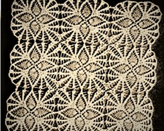 PDF Crochet Pattern to make a Pineapple Tablecloth, Bedspread, Square Motif,
