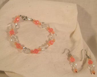 Ice Crystal Earrings & Bracelet Set