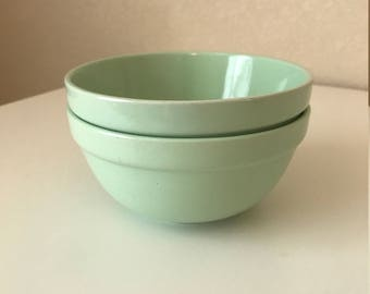 Vintage Mint Cereal Bowls - Set of 2