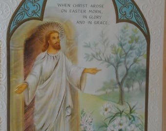 Vintage Easter religious  card