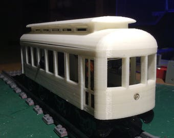 TROLLEY Shell for 24 stud Lego Train Bases (unfinished)