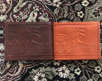 Moroccan Leather Multi-pocket Wallet