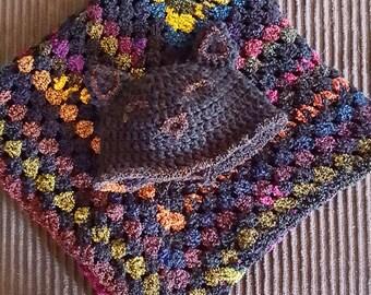 Woodland Kitty Baby Blanket // Fairy Blanket // Gender Neutural Baby // Soft Baby Blanket // Non Traditional // Kitty Baby // Blanket Set