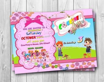 Lalaloopsy doll's Birthday Party invitation, lalaloopsy birthday invitation - ONLY FILE