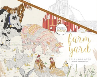 Farm Yard Adult Coloring Book