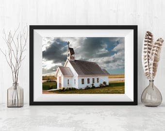 Old Texas Chapel,  Landscape Photography, Home Decor, Wall Art, Texas Gift,