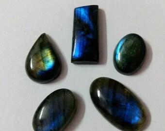 5 Pcs Lot,Mix Shape Labradorite/Attractive Golden Green Flash Labradorite/wire wrap stone/Super Shiny/Pendant Cabochon/Semi PreciousGemstone