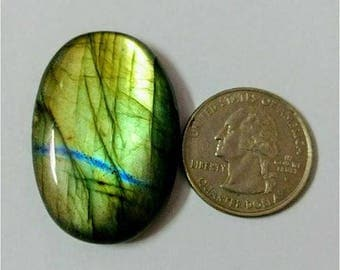 38.88x36.76 mm, Ovel Shape,Labradorite Cobochon/Green Flash /wire wrap stone/Super Shiny/Pendant Cabochon/Semi Precious Gemstone/silverJewl