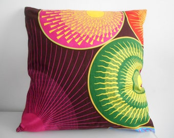 50 cm x 50 cm in African fabric Cushion cover