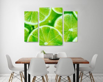 Lime on Canvas, Lemon Art style,Beautiful Limes on Canvas Wall Art, Fruit on Canvas