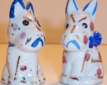 Cute Scottish Terrier Salt and Pepper Shakers - Made in Japan