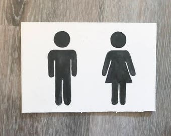 Bathroom Signs Holding Hands transgender bathroom sign