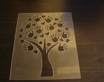 Handmade for your project P0209 tree stencil